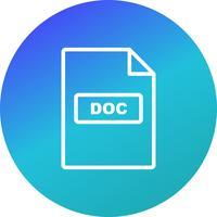 Icône de vecteur DOC