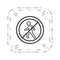 Icône de vecteur pour les piétons
