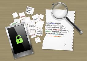 Décryptage du code du pirate informatique vecteur