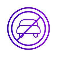 Vecteur aucune entrée pour véhicule automobile icône