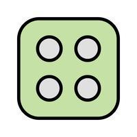 Dés quatre vecteur icône