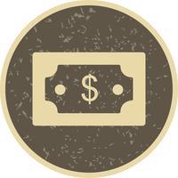 Icône de vecteur de dollar