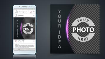 Médias sociaux, modèle de publication Instagram.