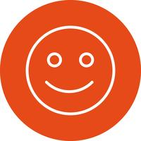 Heureux Emoticon Vector Icon