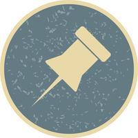 Avis icône de vecteur de broche