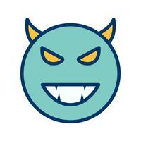 Diable, emoji, vecteur, icône vecteur