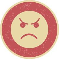 Icône de vecteur d'émoticône en colère