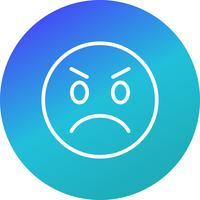 Emoji en colère Vector Icon