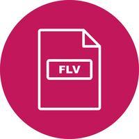 Icône de vecteur FLV