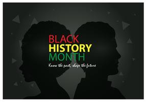 Affiche du Mois de l'histoire des Noirs vecteur