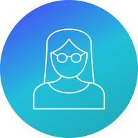Femme scientifique Vector Icon