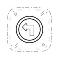 Icône de vecteur à gauche