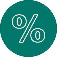 Icône de vecteur de pourcentage