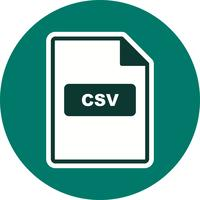 Icône de vecteur CSV