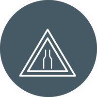 Icône étroite de vecteur carrousway