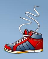 Illustration vectorielle de baskets vecteur