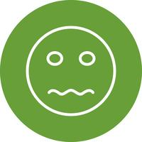 Emoji nerveux Vector Icon