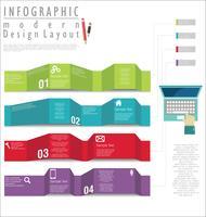 Modèle de conception moderne d'infographie