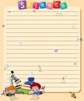 Modèle de papier de ligne avec livre de lecture de garçons