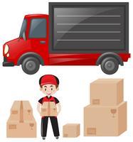 Ensemble de facteur et service de livraison