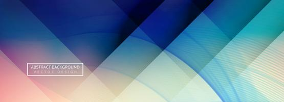 Fond de bannière vague colorée abstraite vecteur