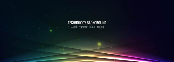 Vecteur de bannière colorée de technologie