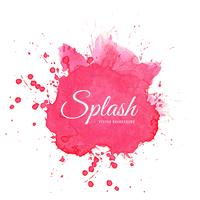 Vecteur de splash rose aquarelle élégant
