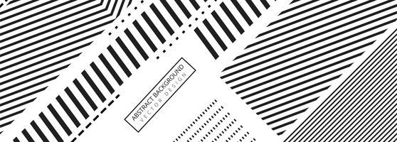 Conception de modèle de bannière géométrique abstraite