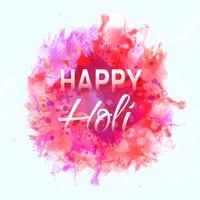Happy Holi Celebration Festival indien des couleurs vecteur