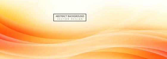 Conception de modèle de bannière vague abstraite