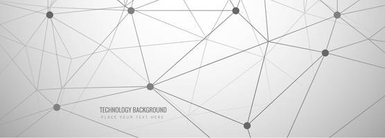 Conception de bannière de technologie abstraite grise