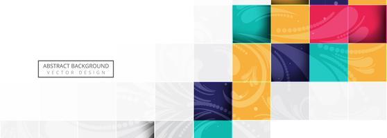 Fond de bannière abstrait blocs colorés