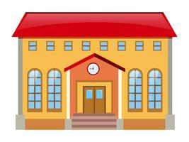 Bâtiment du musée avec toit rouge vecteur