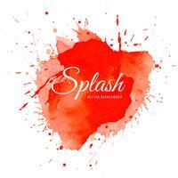 Vecteur de splash rouge aquarelle élégant