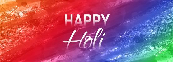 Vecteur de bannière colorée festival Holi