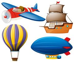 Quatre types de transports