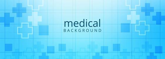 Arrière-plan du modèle de bannière de soins de santé et médical vecteur