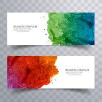Conception de décors aquarelle coloré abstrait