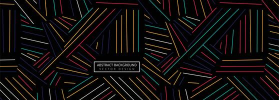 Fond d'en-tête de lignes géométriques colorées abstraites