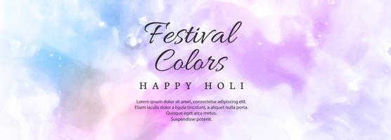 illustration du modèle d'en-tête coloré Happy Holi