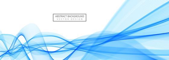Conception de modèle de bannière belle vague créative vecteur