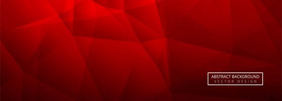 Arrière-plan du modèle bannière abstrait polygone brillant rouge