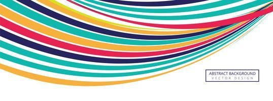 Vecteur de fond élégant vague créative coloré