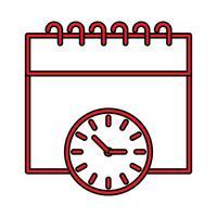 Calendrier Perfect Icon Vector ou Pigtogram Illustration dans un style rempli