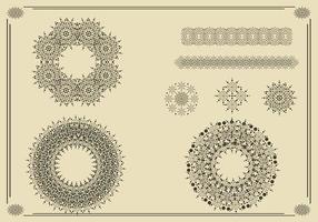 Couronnes, bordures et ornements vectoriels pack deux vecteur