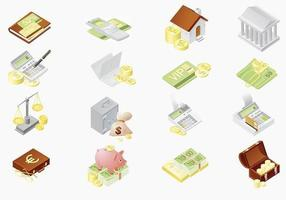 Pack vectoriel d'icônes financières