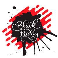 Illustration vectorielle - Lettrage de brosse moderne manuscrite du vendredi noir isolé sur fond blanc