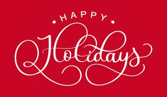 joyeuses fêtes. Calligraphie créative dessinée à la main et lettrage au stylo pinceau. concevoir des cartes de vœux et des invitations des joyeux Noël et bonne année et des vacances vecteur