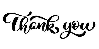 Merci inscription manuscrite. Lettrage dessiné à la main. Merci calligraphie. Carte de remerciement. Illustration vectorielle