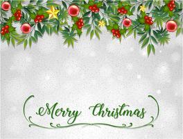 Modèle de carte de joyeux Noël avec gui vecteur
